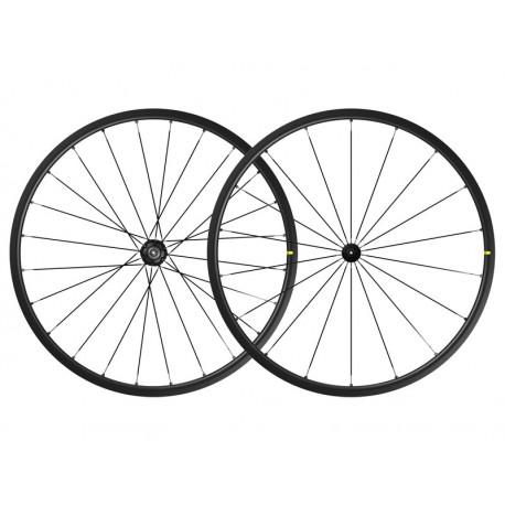 Roues à pneu 700 MAVIC route Ksyrium S UST Black noire moyeu noir