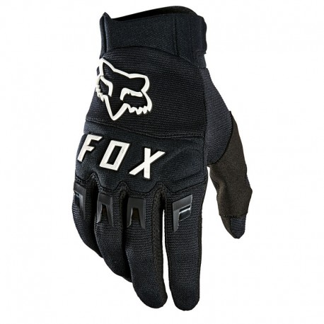 Gants longs FOX vtt Dirtpaw noir décor blanc