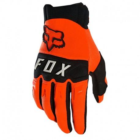 Gants longs FOX vtt Dirtpaw orange décor noir