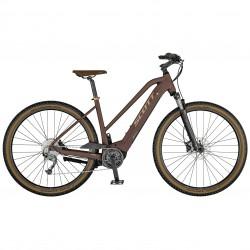 Vélo électrique VTC 29p - SCOTT 2021 alu Sub Cross eRide 30 Lady 400 - Marron Décor doré