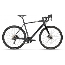Vélo gravel 700 alu - STEVENS 2021 Prestige - Noir PHANTOM mat Décor noir, gris anthracite et gris argent