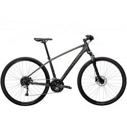 Vélo VTC homme 28p alu - TREK 2021 Dual Sport 3 - Gris LITHIUM décor noir