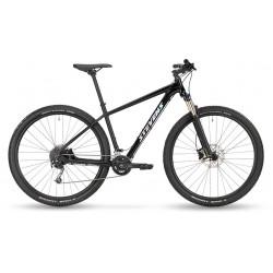 Vélo VTT 29p alu STEVENS 2021 Taniwha - Noir STEALTH Décor gris argent reflets turquoise et rose : 100mm