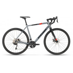 Vélo gravel 700 alu - STEVENS 2021 Tabor - Gris Foggy décor noir