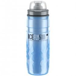 Bidon ELITE polyethylene isotherme Fly Ice 500 bleu glace décor noir et blanc