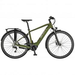 Vélo électrique urbain homme 28p alu - SCOTT 2021 Sub Tour eRIDE 10 Men 625 - Kaki reflet orange Décor gris argent