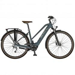 Vélo électrique urbain femme 28p alu - SCOTT 2021 Sub Active eRide Lady 400 - Gris anthracite Décor gris argent