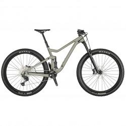 Vélo VTT 29p alu - SCOTT 2021 Genius 950 - Gris argent métallisé Décor noir hachuré : 150-150mm