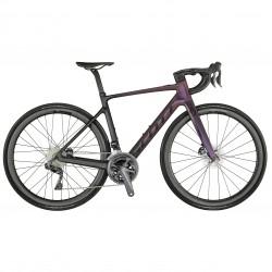 Vélo électrique course femme 700 carbone - SCOTT 2021 Contessa Addict eRIDE 10 250 - Dégradé noir et violet à reflet