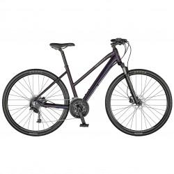 Vélo VTC femme 28p alu - SCOTT 2021 Sub Cross 30 Lady - Bleu nuit Décor gris clair : 63mm