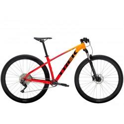 Vélo VTT 27.5p alu - TREK 2021 Marlin 7 - Dégradé orange Marigold et rouge Radioactive Décor noir : 100mm