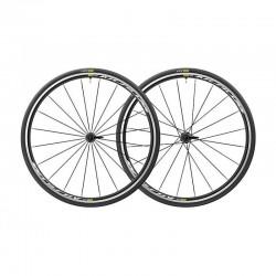 Roues à pneu 700 MAVIC route Aksium Elite UST SP Black noire décor blanc