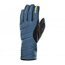 Gants longs MAVIC hiver Ksyrium Pro Thermo bleu pétrole décor noir
