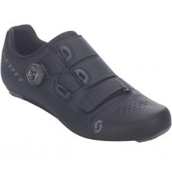 Chaussures route - SCOTT Road Team Boa - noir mat : semelle Nylon et fibre de verre indice 8 ventilée - serrage Boa IP1 à