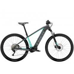 Vélo électrique VTT 27.5p alu - TREK 2021 PowerFly 4 500 - Gris Solid Charcoal et bleu Miami Décor gris