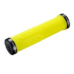 Poignées de guidon RITCHEY caoutchouc vtt WCS TrueGrip X Locking jaune Yellow