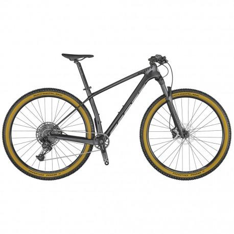 Vélo VTT 29p carbone - SCOTT 2021 Scale 940 - Noir granite décor argent : 100mm