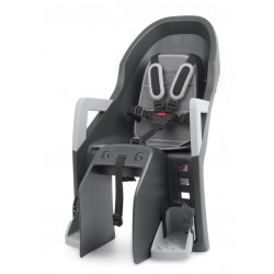 Porte-bébé POLISPORT arrière sur porte-bagage Guppy Maxi CFS anthracite décor argent