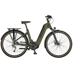 Vélo électrique urbain unisexe 28p alu - SCOTT 2021 Bike Sub Tour eRIDE 30 USX 500 - Kaki Décor vert sapin