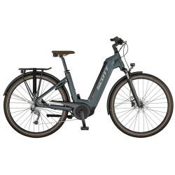 Vélo électrique urbain unisexe 28p alu - SCOTT 2022 Sub Active eRIDE USX 400 - Gris anthracite Décor argent