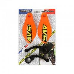 Protège mains AVS polyamide Basic orange décor jaune