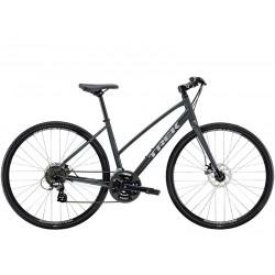 Vélo route fitness 700 alu - TREK 2021 FX 1 Stagger Disc - Gris Solid Charcoal Décor gris argent