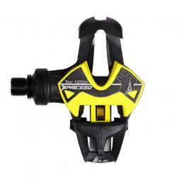 Pédales TIME route X-Presso 10 Tour Edition Carbon noire décor jaune