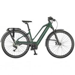 Vélo électrique urbain 28p alu - SCOTT 2021 Silence eRide 30 Lady 625 - Marron métalisé décor noir : cadre ouvert