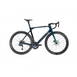 Vélo course 700 carbone - LAPIERRE 2021 Aircode DRS 7.0 - Vert anglais caméléon décor argent