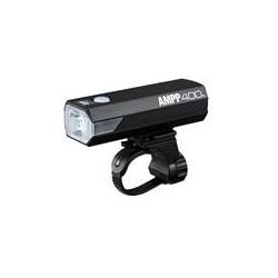 Eclairage avant - CATEYE AMPP 400 Avant - 1 led blanche 400 lumens - rechargeable par port usb - fixation avant par collier