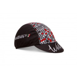 Casquette - WILIER Pop Stardust - noir décor pois blanc et rouge - confortable et très respirante - idéale sous le casque