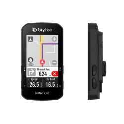 """GPS vélo compteur - BRYTON Rider 750 E - noir : écran couleur 2.8"""" - altimètre barométrique - connectivité Bluetooth et"""