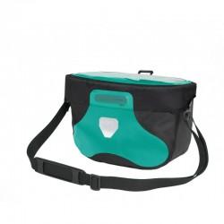 Sacoche de guidon - ORTLIEB Ultimate6 Free M F3411 - Bleu turquoise décor noir