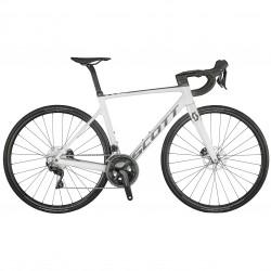 Vélo course 700 carbone - SCOTT 2021 Addict RC 40 - Blanc décor gris argent et noir : 2x11v