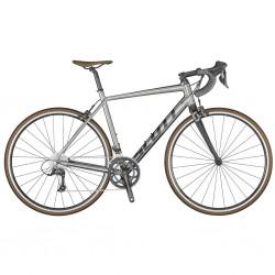 Vélo course alu 700 - SCOTT 2021 Speedster 30 - Argent décor noir : 2x9v