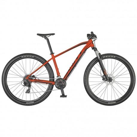 Vélo VTT 29p alu - SCOTT 2021 Aspect 960 - Rouge néon décor noir : 100mm