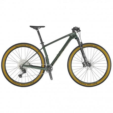 Vélo VTT 29p carbone - SCOTT 2021 Scale 930 - Vert wakame décor argent