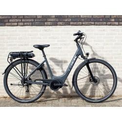 Vélo électrique ville 28p alu - TREK 2021 Verve+ 1 LowStep 400 - Gris Solid Charcoal Décor argent