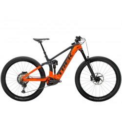 Vélo électrique VTT 29p carbon - TREK 2021 Rail 9.8 XT 625 - Noir anthracite brillant Décor orange radioavtive