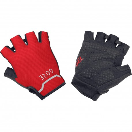 Gants courts - GORE C5 - rouge décor noir