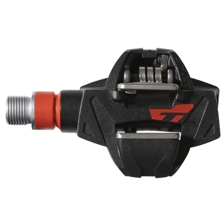 Pédales auto TIME carbon vtt gravel Atac XC8 noire décor rouge