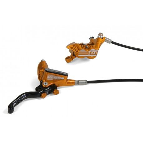 Frein à disque HOPE arrière Tech-3 V4 orange levier noir