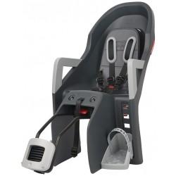 Porte-bébé POLISPORT arrière sur cadre Guppy Maxi + RS anthracite décor gris