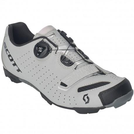 Chaussures vtt et gravel - SCOTT Mtb Comp Boa Reflective - gris réfléchissant - semelle Nylon renforcée et crampons gomme
