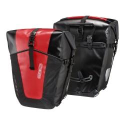Sacoches ORTLIEB arrières latérales Back Roller Pro Classic F5352 noire décor rouge