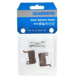 Plaquettes de frein SHIMANO support acier M06 métal Syntérisés