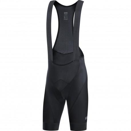 Cuissard à bretelles - GORE C3 - noir : insert mousse élastique et confortable - tissu léger et respirant - bretelles mesh