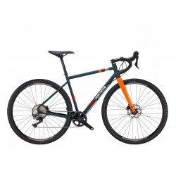 Vélo gravel 700 acier WILIER 2021 Jaroon GRX bleu Avio brillant décor orange néon