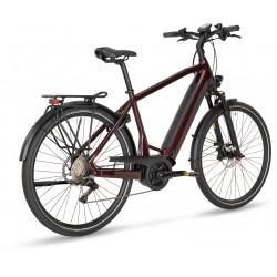 Vélo électrique urbain 28p alu - STEVENS 2021 E-Triton PT6 Gent 625 - Marron brillant décor noir : 63mm