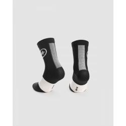 Chaussettes été - ASSOS Socks - noir décor logo blanc